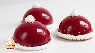 🎄 🎅 Raffiniertes Weihnachtsdessert als Weihnachtsmützen 🎅😍