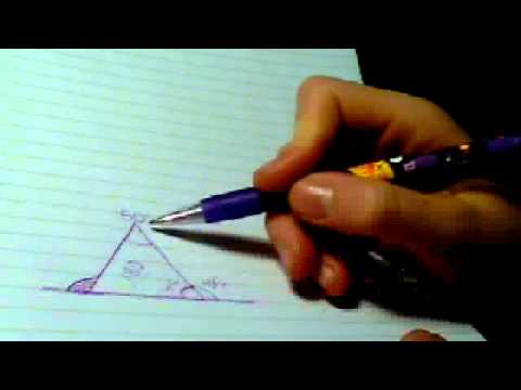 How to work out interior and exterior angle of a triangle - How to work out an exterior angle ...