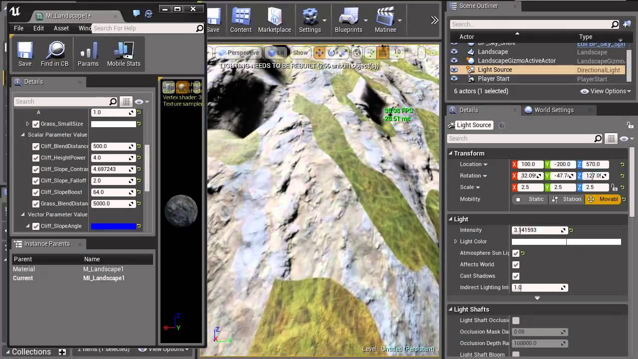 UE4 LandscapeMaterial Tutorial Pt2