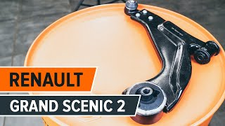 How to replace front suspension arm on RENAULT GRAND SCENIC 2 TUTORIAL | AUTODOC