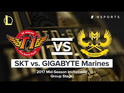 HIGHLIGHTS: SK Telecom T1 vs. GIGABYTE Marines (2017 MSI Group Stage)