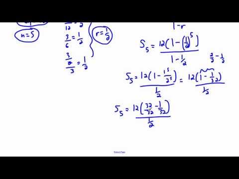 Geometric series - (IB Math, GCSE, A level, AP)