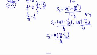 Geometric series - (IB Math, GCSE, A level, AP)