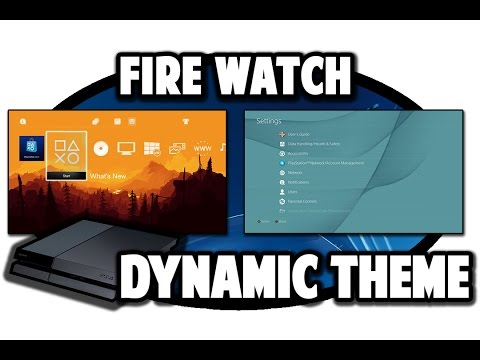 [PS4 THEMES] Firewatch Dynamic Theme Video In 60FPS