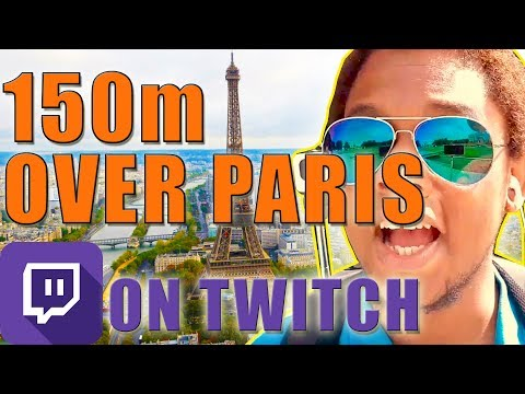 Went up a GIANT Helium balloon 150m over Paris - Twitch recap