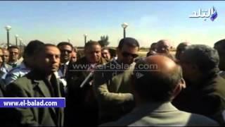بالفيديو والصور.. محافظ أسيوط يتفقد محطة مياه الفتح وابنوب