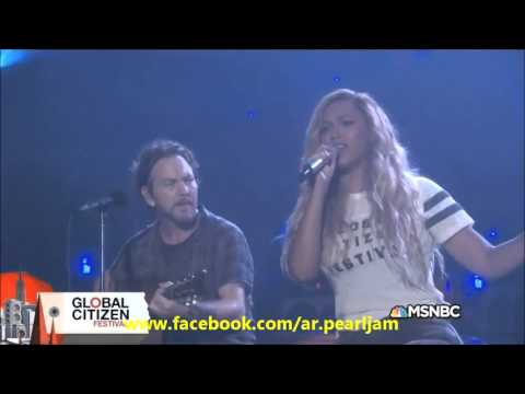 Eddie Vedder feat Beyoncé  Redemption Song @Global Citizen Festival 2015