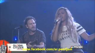 Eddie Vedder feat. Beyoncé - Redemption Song @Global Citizen Festival 2015