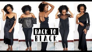 5 ALL BLACK LOOKS I'M CURRENTLY OBSESSING OVER | THIS IS ESS
