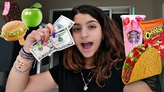 EATING 24 HOURS WITH ONLY $10 DOLLARS CHALLENGE !