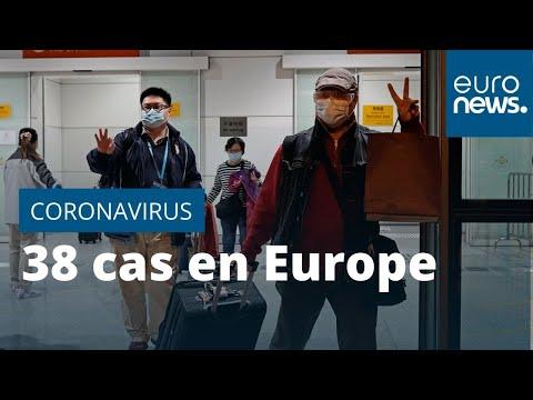 L'Europe recense 38 cas d'infection au coronavirus
