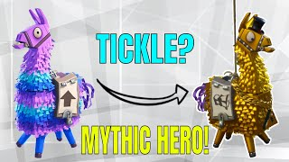 Fortnite - MYTHIC HERO | DOES TICKLING A LLAMA GIVE BETTER LOOT? | LLAMA MYTH | EP.1 | Llama Opening
