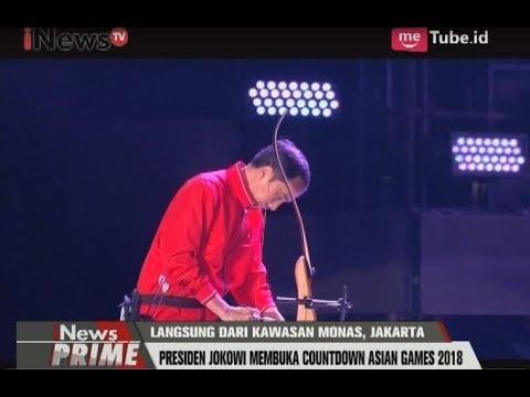 Aksi Presiden Jokowi Membuka Hitung Mundur Asian Games Dengan Memanah - INews Prime 18/08