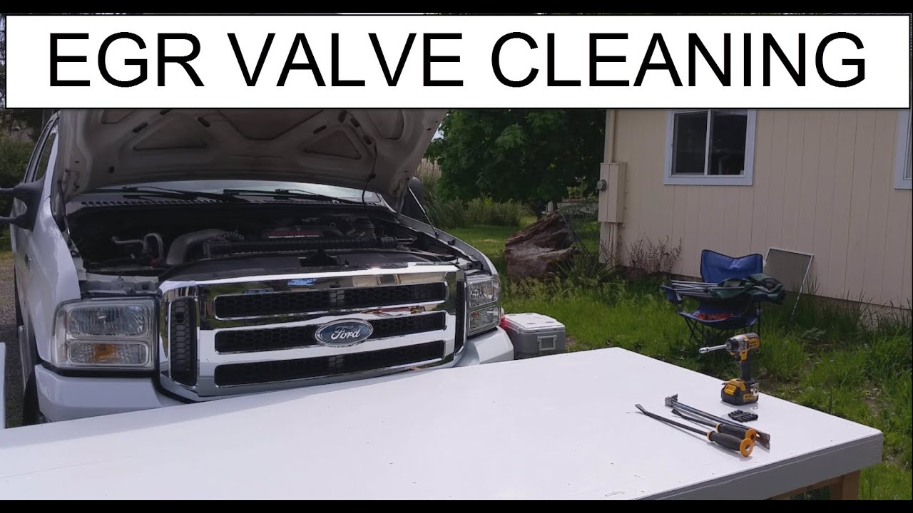 Trouble code p0404 egr cleaning youtube - 2006 Ford F350 6 0 Diesel Egr Removal Cleaning Like New Soda Blast And Reinstall Code P1335