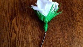 Цветок из гофрированной бумаги(Цветок из гофрированной бумаги. Как сделать своими руками, смотрите подробный мастер класс http://www.sdelaysam-svoimiru..., 2014-09-25T07:11:03.000Z)