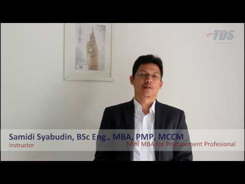 Mini MBA for Procurement Profesional - Training Review