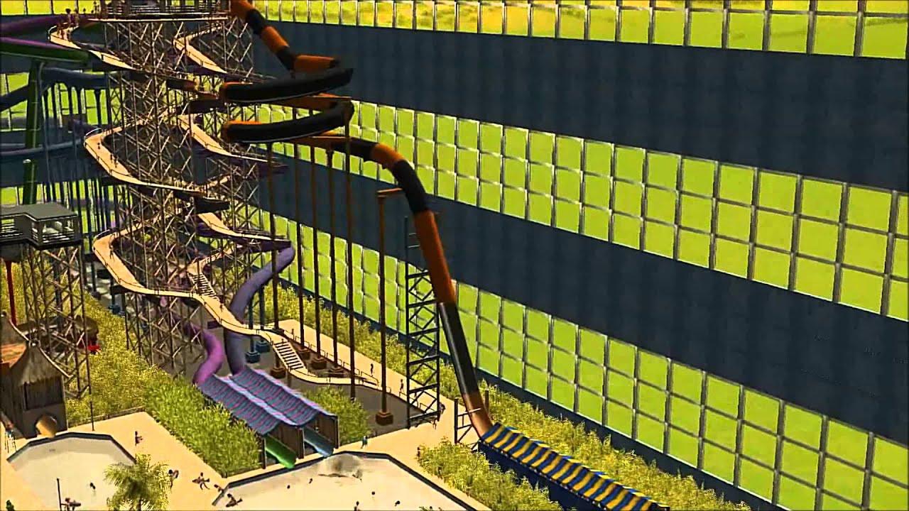 Water coaster (roller coaster)