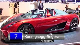 Top 10 Fastest Cars In The World 2018   NEW WORLD RECORD   YouTube