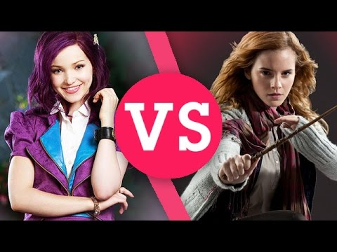 Harry Potter VS Disney Descendants | Hermione, Mal, Voldemort, Maleficent & More!
