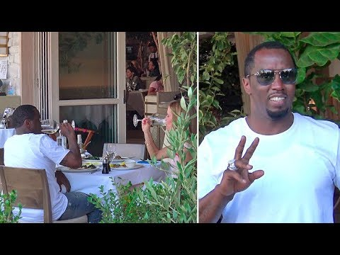 Sean Combs Asked About XXXTentacion While At 'Business Lunch' With Pretty Blonde In Beverly Hills