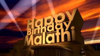 Happy Birthday Malathi