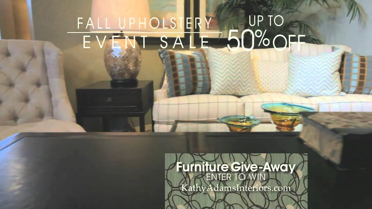 Wonderful Kathy Adams Interiors Upholstery Event Sale TV Ad