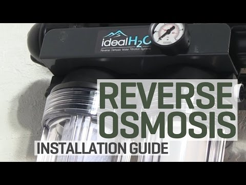How To Install A Reverse Osmosis Water Purification System