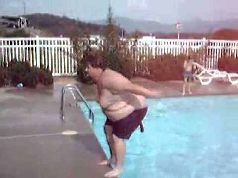 Fat man doing a backflip youtube for Pool guy show