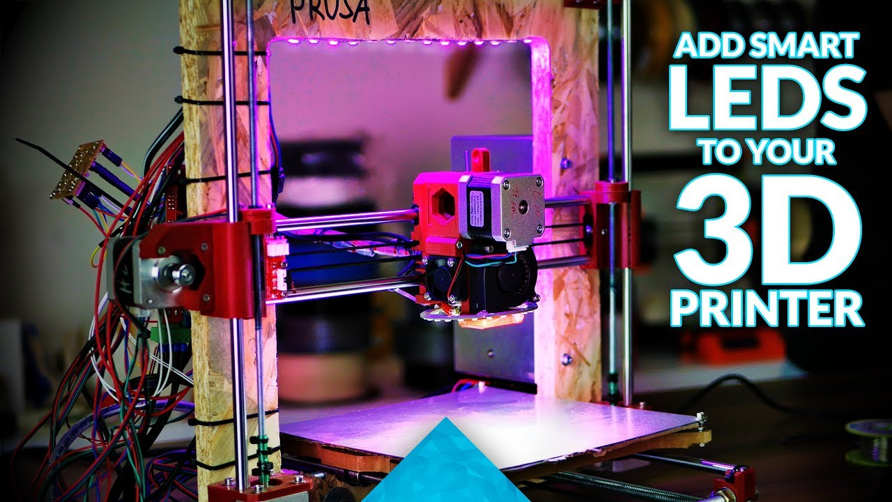 How to add software-controlled LEDs to your 3D printer!