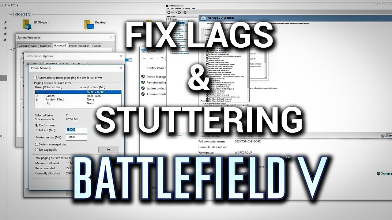 How to Fix Battlefield V lags And Stuttering Problem | BFV BETA