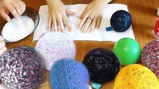 Шары c НИТОК и КЛЕЯ / Поделки своими руками(Как сделать красивые шары с ниток и клея своими руками! Вы узнаете обо всех тонкостях изготовления объемных..., 2014-09-16T20:15:03.000Z)