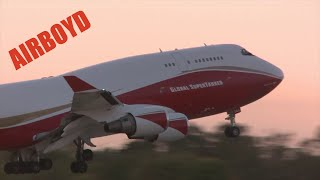 Fire Tankers Set Record At Sacramento McClellan Airport (2017)
