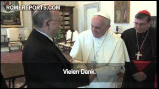 Pope Francis meets with first Protestant leader