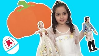 Cinderella GIANT PUMPKIN SURPRISE EGG & Toys - Princesses In Real Life | WildBrain Kiddyzuzaa