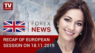 InstaForex tv news: 18.11.2019:  EUR, GBP gain ground on weak US dollar (EUR/USD, GBP/USD, GOLD)