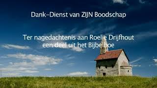Roelie Drijfhout Dank-Dienst