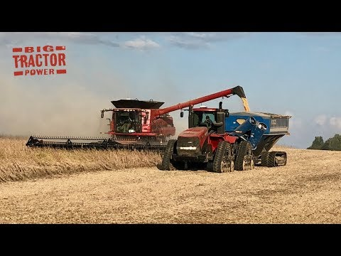 Case IH 9240 Axial-Flow Combines Harvesting Soybeans
