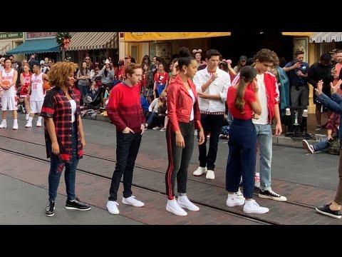 High School Musical The Series Behind The Scenes Filming Disneyland Christmas Parade 2019