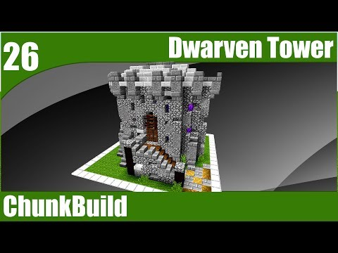 ChunkBuild 26: Dwarven Tower in One Chunk |  ChunkBuild (Minecraft Timelapse House)