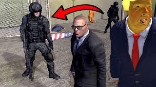 POLICJANCI VS OCHRONIARZ! OCHRONA PANA PREZYDENTA! - MR.PRESIDENT #04