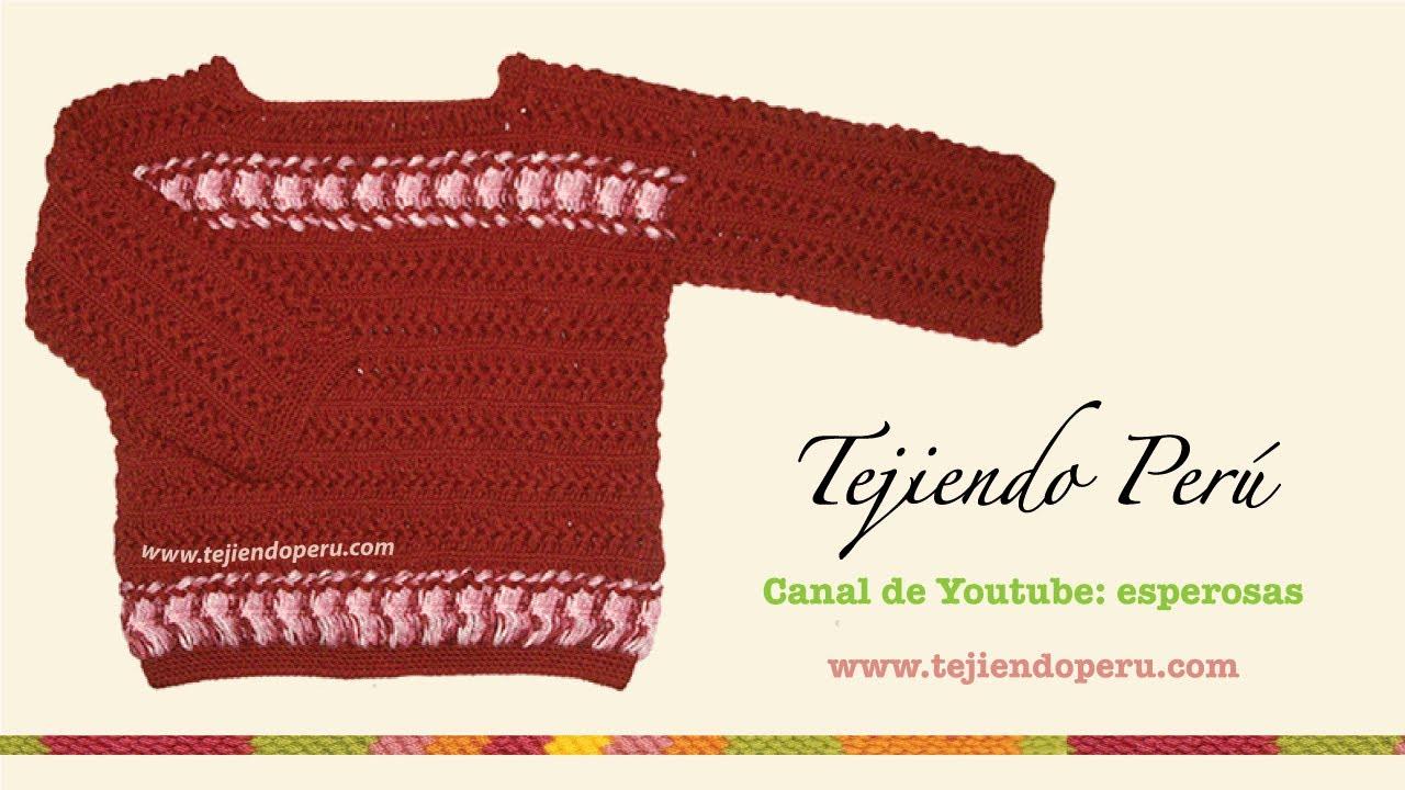 Cómo tejer una chompa o sweater para damas en horquilla (hairpin ...
