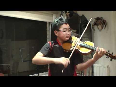 Tim Yu, 12 Year old boy plays Saint Saens Introduc...