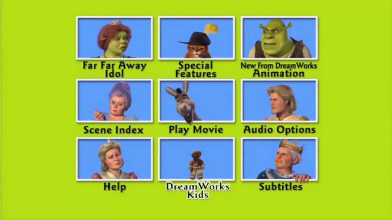 Shrek 2 Menu Dvd Hd 2004 Youtube