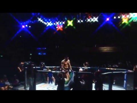 UFC: feroz nocaut en Las Vegas del argentino Ponzinibbio