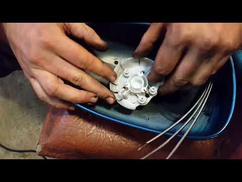 ремонт бокового зеркала заднего вида, замена тросиков регулировки зеркала сенс, ланос