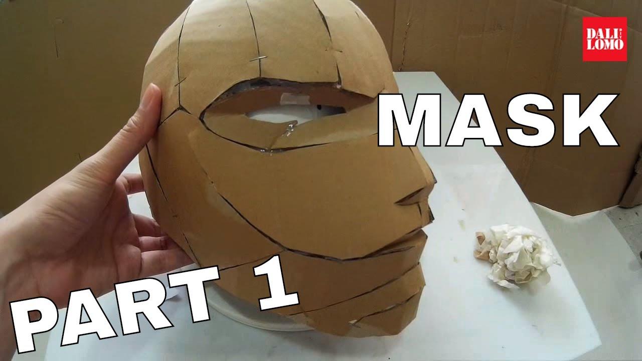 Make Red Hood Helmet Part 1 Cardboard Cosplay How To 105 Youtube