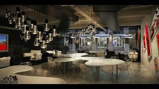 Unique Cafe and Restaurant - Interior Design - Modern Design