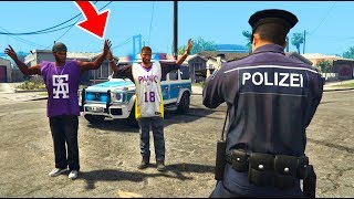 GANG ANGRIFF AUF UNS! (GTA 5 Polizei Mod)