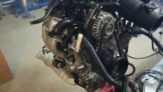 Mazda RX-8 Wankel engine testing after rebuild and porting.