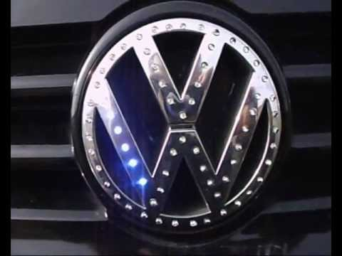 Vw Led Emblem Golf Iv Youtube
